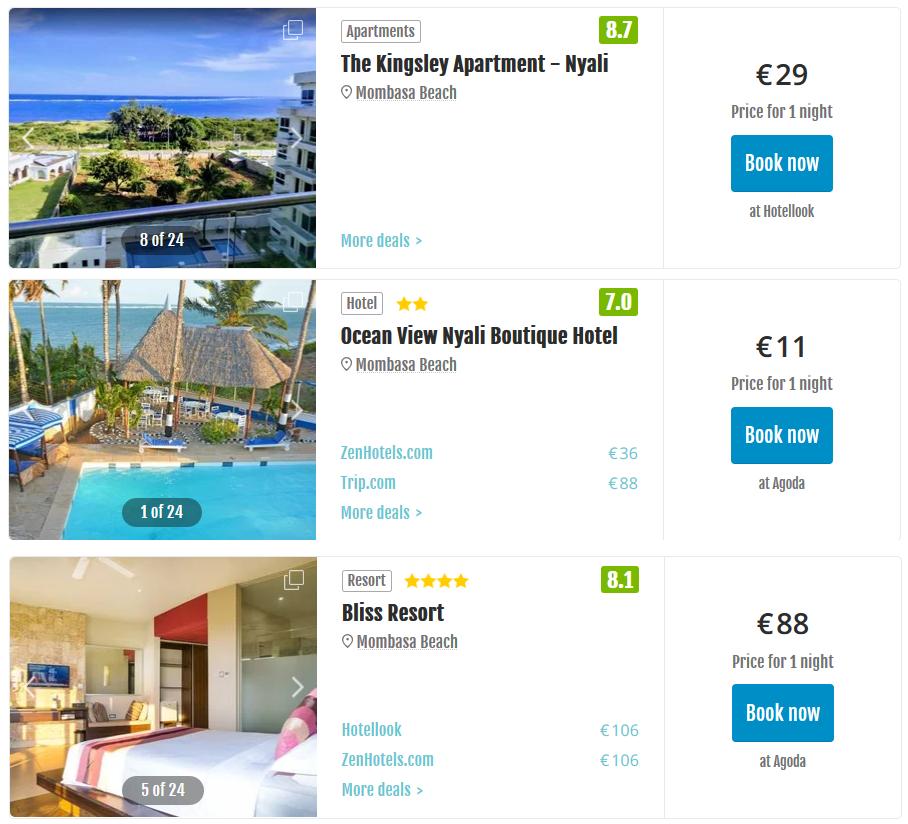 Mombasa Beach Hotels